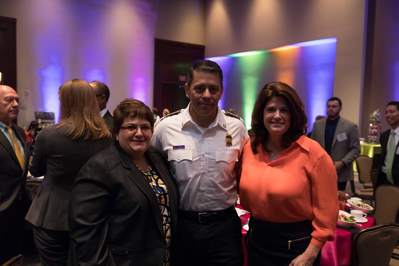 Tamez at HSC luncheon