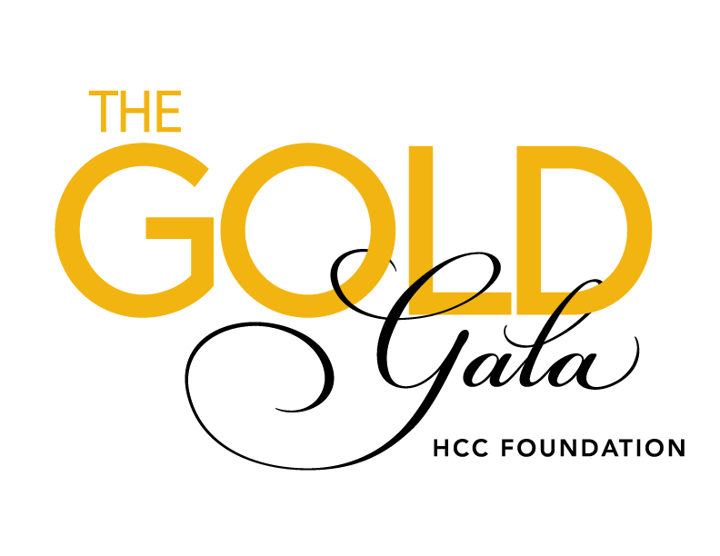 The gold gala logo